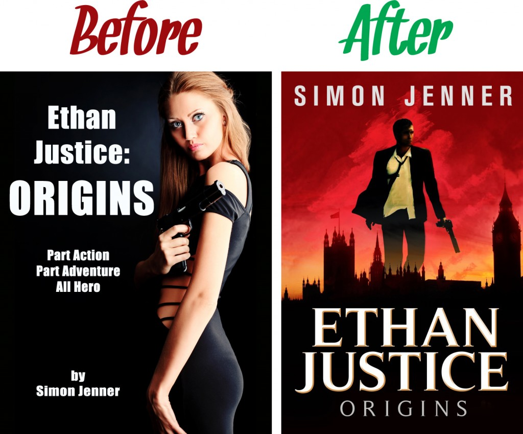 Ethan Justice: Origins - Before & After Covers