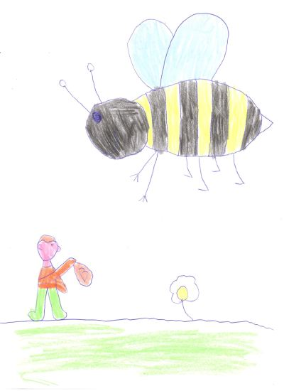 The Mystical Wood - Ben's Drawing of the Bee