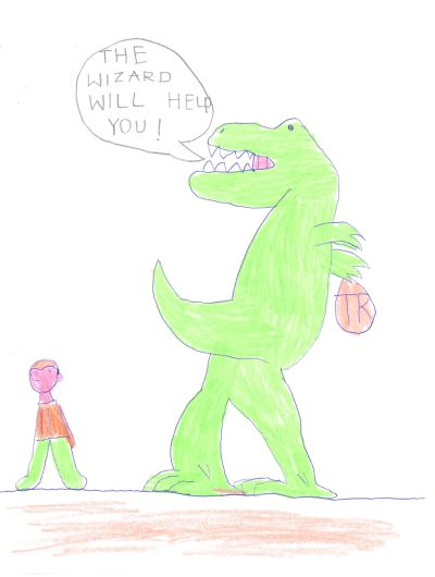 The Mystical Wood - Ben's Drawing of the Trex