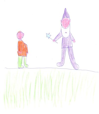 The Mystical Wood - Ben's Drawing of the Wizard