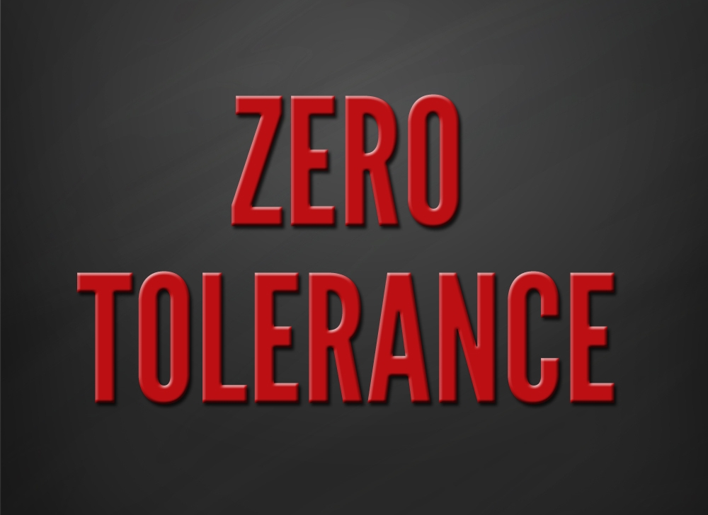 Zero Tolerance by Simon Jenner
